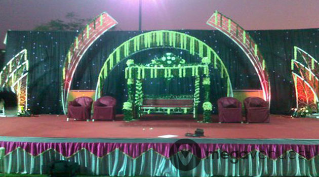 Decoration of Stage at Jalsa